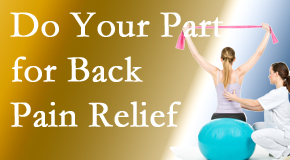 Shoreline Medical Services/ Hutter Chiropractic Office invites back pain sufferers to participate in their own back pain relief recovery.