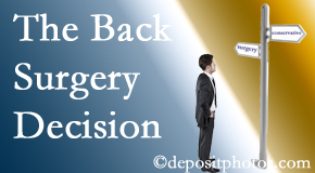 Groton back surgery for a disc herniation is an option to be carefully studied before a decision is made to proceed.