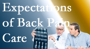 The pain relief expectations of Groton back pain patients influence their satisfaction with chiropractic care. What's realistic?