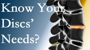 Your Groton chiropractor thoroughly understands spinal discs and what they need nutritionally. Do you?