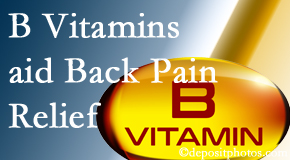 Shoreline Medical Services/ Hutter Chiropractic Office may include B vitamins in the Groton chiropractic treatment plan of back pain sufferers.