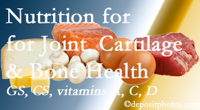 Hutter Chiropractic Office explains the benefits of vitamins A, C, and D as well as glucosamine and chondroitin sulfate for cartilage, joint and bone health.