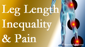 Hutter Chiropractic Office checks for leg length inequality as it is related to back, hip and knee pain issues.