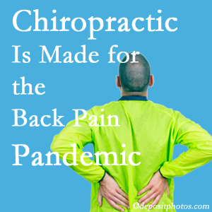 Groton chiropractic care at Shoreline Medical Services/ Hutter Chiropractic Office is prepared for the pandemic of low back pain.