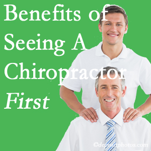 Getting Groton chiropractic care at Hutter Chiropractic Office first may reduce the odds of back surgery need and depression.