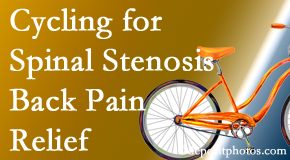 Hutter Chiropractic Office encourages exercise like cycling for back pain relief from lumbar spine stenosis.