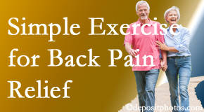 Hutter Chiropractic Office encourages simple exercise as part of the Groton chiropractic back pain relief plan.