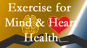 A healthy heart helps maintain a healthy mind, so Hutter Chiropractic Office encourages exercise.