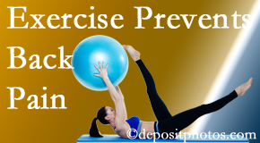 Hutter Chiropractic Office suggests Groton back pain prevention with exercise.