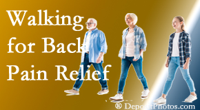 Hutter Chiropractic Office often recommends walking for Groton back pain sufferers.