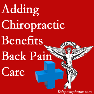 Added Groton chiropractic to back pain care plans helps back pain sufferers.