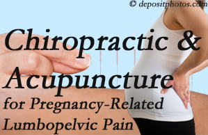 Groton chiropractic and acupuncture may help pregnancy-related back pain and lumbopelvic pain.