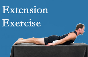 Hutter Chiropractic Office recommends extensor strengthening exercises when back pain patients are ready for them.