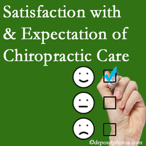 Groton chiropractic care provides patient satisfaction and meets patient expectations of pain relief.
