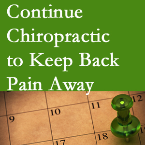 Continued Groton chiropractic care helps keep back pain away.