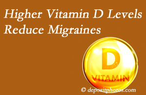 Hutter Chiropractic Office shares a new study that higher Vitamin D levels may reduce migraine headache incidence.